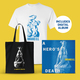 A Hero's Death Merch Bundle with T-shirt (White)