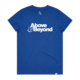 Above & Beyond Ocean Blue Women's Logo Tee