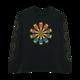 Spirals Long Sleeve Black Tshirt - Front Print