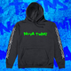 Barbed Wire Green Logo Black Hoodie