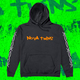 Barbed Wire Orange Logo Black Hoodie