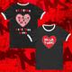 Black 'Taxi' Ringer T-Shirt