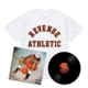 Flu Game LP + Collegiate T-Shirt Bundle - White