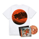 Flu Game CD (Signed) + T-Shirt Bundle - White