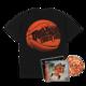 Flu Game CD (Signed) + T-Shirt Bundle - Black