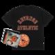 Flu Game CD (Signed) + Collegiate T-Shirt Bundle - Black
