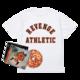 Flu Game CD (Signed) + Collegiate T-Shirt Bundle - White