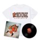 Flu Game LP + Team T-Shirt Bundle - White