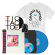 "Coloured Vinyl, 7"", Patch &  Short sleeve Staircase Design White T-Shirt Bundle"