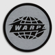 Black Warp Logo Slipmats With Grey Print
