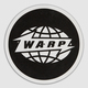 White Warp Logo Slipmats With Black Print